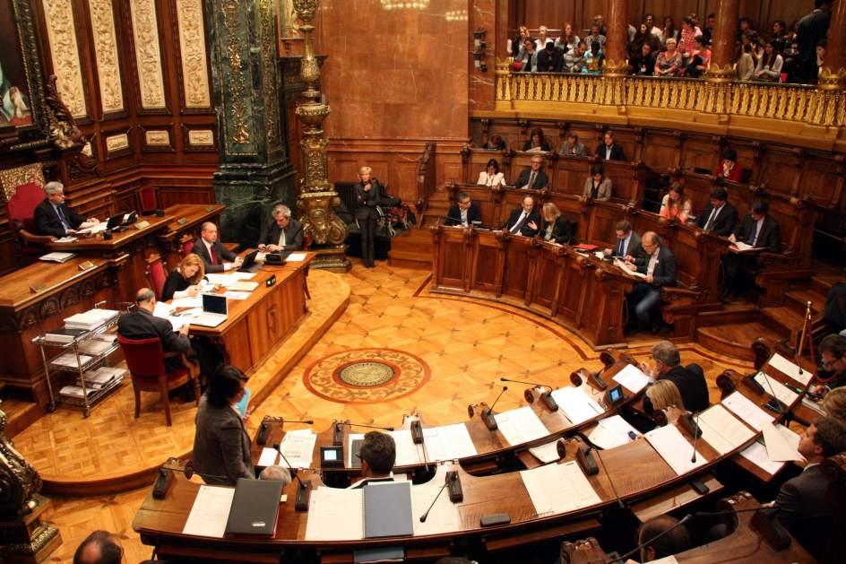 Resultado de imagen de pleno del ayuntamiento de barcelona