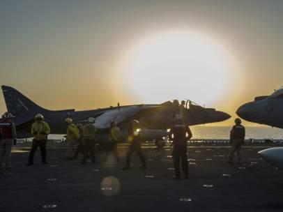 Portaaviones de EE UU en el Golfo P�rsico