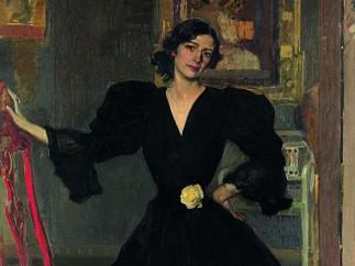 Clotilde con traje negro, 1906