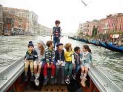 Campaña de otoño de Benetton para niños