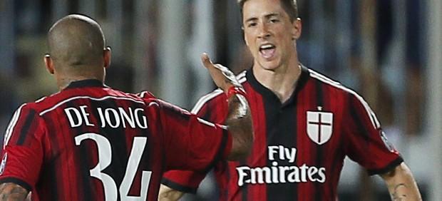 Fernando Torres se estrena como goleador en el Milan
