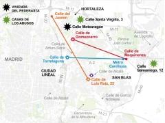 Mapa del pederasta de Ciudad Lineal