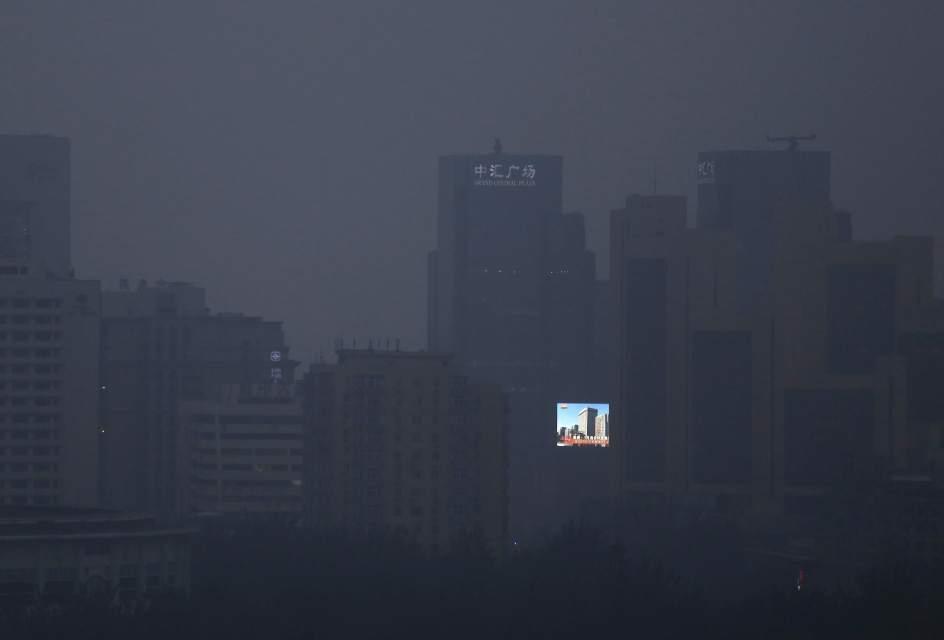 La niebla cubre Pekín