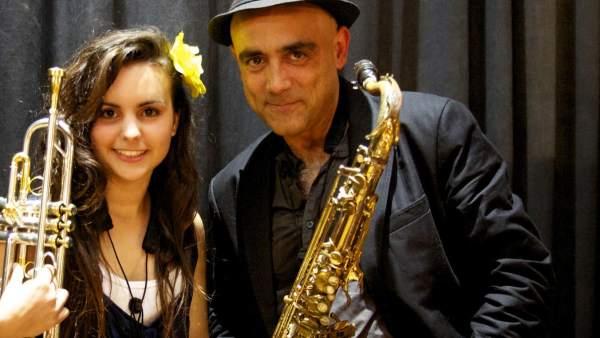 Joan Chamorro & Andrea Motis. Músics de jazz.