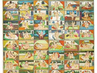 'Les Quatre-vingt-quatre Asana (positions)'. Ecole de Nathdwara, Rajasthan. XVIIIe ou début du XIXe siècle