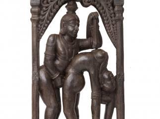 'Couple en �bat acrobatique'. Tamil Nadu. Fin XVIIIe-XIXe si�cle