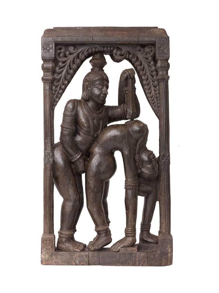 'Couple en ébat acrobatique'. Tamil Nadu. Fin XVIIIe-XIXe siècle