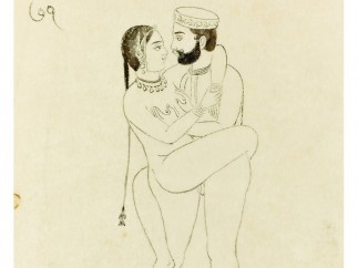 'Couple debout'. Ecole de Jaipur, Rajasthan. XVIIIe siècle