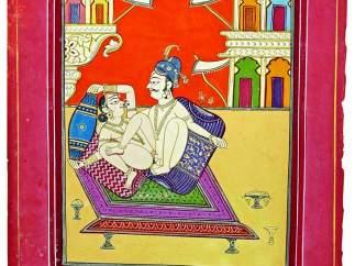'Couple aristocratique sur une terrasse'. Ecole de Jodhpur