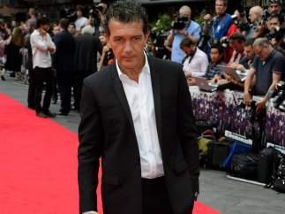 Antonio Banderas en la premiere de Los Mercenarios 3 en Londres el 4 de agosto