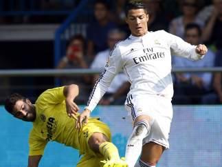 Cristiano Ronaldo marca en el Madrigal