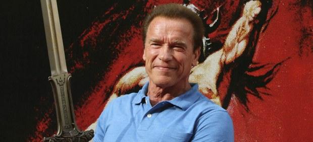 Arnold Schwarzenegger en el paseo de la Fama de Almería