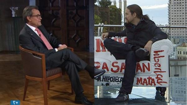 Artur Mas y Pablo Iglesias