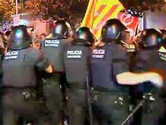 Disturbios en Barcelona por la consulta