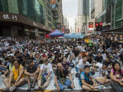 Activistas en Hong Kong