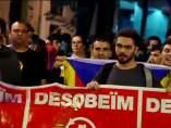 Protestas soberanistas en Cataluña.