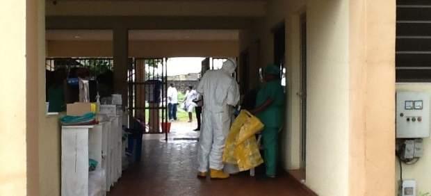 Centro de tratamiento deébola en Nigeria