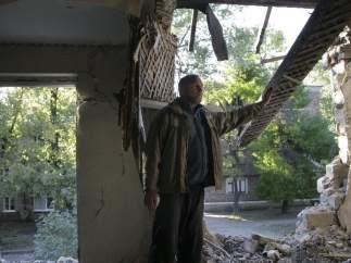 Bombardeos en Donetsk