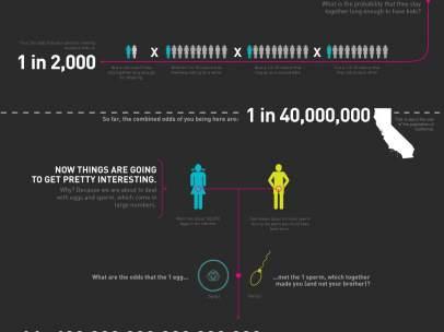 Infografía sobre las probabilidades de haber nacido
