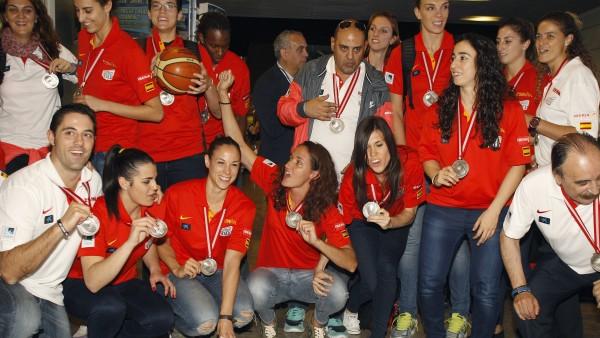 La selección femenina de baloncesto llega a Madrid