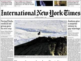 """International New York Times: """"Posible contagio de ébola en España"""""""