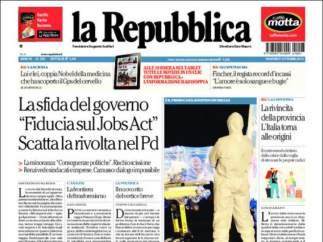 """La Repubblica: """"Ahora el ébola preocupa a Europa"""""""