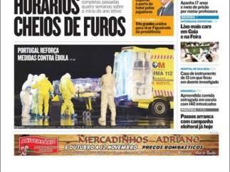 """Jornal de Notícias: """"Portugal refuerza las medidas contra el ébola"""""""