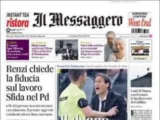 """Il Messagero: """"Un caso en Madrid, el ébola desembarca en Europa"""""""