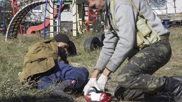 Heridos en Ucrania