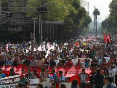 Marcha por los 43 estudiantes desaparecidos en Iguala