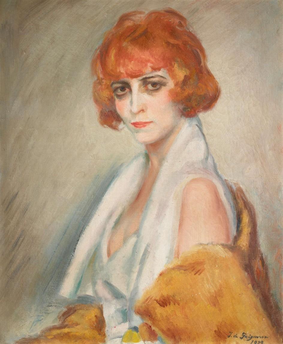 Jean de Gaigneron - La marchesa Casati, 1922 . Retrato al óleo de Jean de Gaigneron de Luisa Casati
