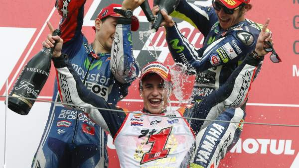 Márquez celebra su segundo Mundial