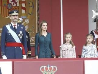 Los reyes y sus hijas este 12-O