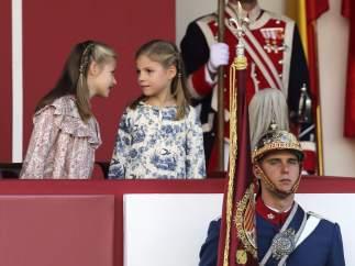 Primer desfile militar como Princesa de Asturias