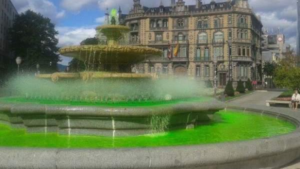 Fuente verde