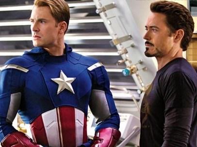Tony Stark y Steve Rogers en Los Vengadores