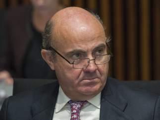 El ministro espa�ol de Econom�a, Luis de Guindos.