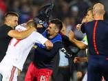 Suspendido el partido entre las selecciones de Albania y Serbia