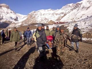 Tragedia en las montañas de Nepal