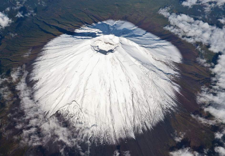 Fuji recibe su primera nevada del otoño