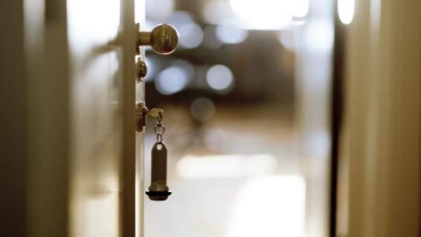 Llaves en una puerta