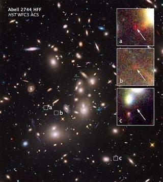 Resultado de imagen de Captan galaxias situadas a más d 13.000 millones de años