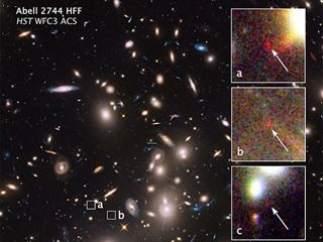 Imágenes de la pequeña galaxia
