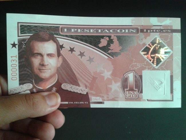 Forocoches convertirá la Peseta en la moneda oficial española