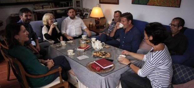 Comida familiar deÉvole con Oriol Junqueras