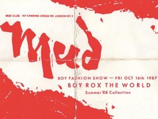 Philip Salon Promotes Boy Fashion Show at Mud Club, Charing Cross Road, London WC2, October 1987