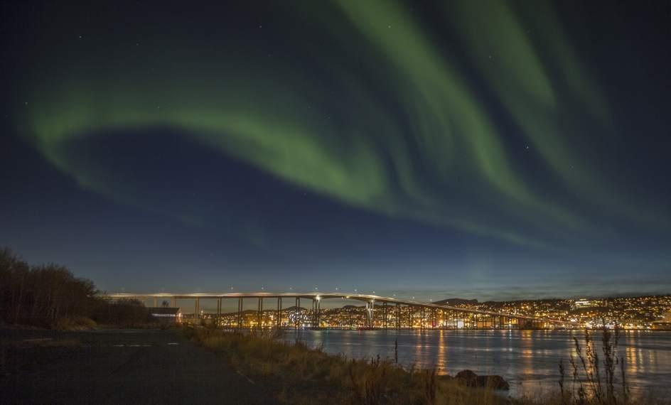 Aurora boreal en Noruega