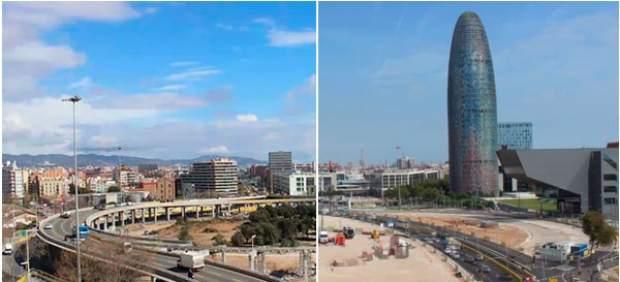 Los carriles de entrada a Barcelona por la Gran Via se reducirán de cinco a dos
