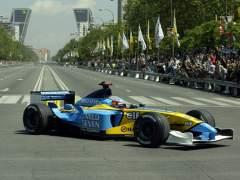 Fernando Alonso en Madrid.
