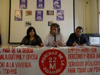 Rueda de prensa de Marchas de la Dignidad ofrecida el 21 de octubre.